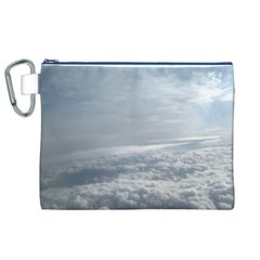 Sky Plane View Canvas Cosmetic Bag (xl) by yoursparklingshop