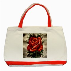 Red Rose Classic Tote Bag (red) by ArtByThree