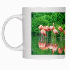 Flamingo Birds At Lake White Coffee Mug