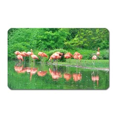 Flamingo Birds At Lake Magnet (rectangular)