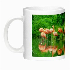 Flamingo Birds At Lake Glow In The Dark Mug