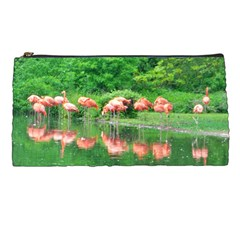 Flamingo Birds At Lake Pencil Case by yoursparklingshop