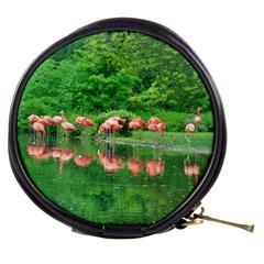 Flamingo Birds At Lake Mini Makeup Case