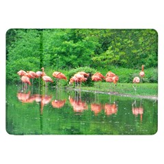 Flamingo Birds At Lake Samsung Galaxy Tab 8 9  P7300 Flip Case by yoursparklingshop