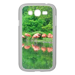 Flamingo Birds at lake Samsung Galaxy Grand DUOS I9082 Case (White) by yoursparklingshop