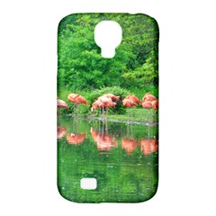 Flamingo Birds At Lake Samsung Galaxy S4 Classic Hardshell Case (pc+silicone) by yoursparklingshop