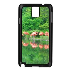 Flamingo Birds At Lake Samsung Galaxy Note 3 N9005 Case (black) by yoursparklingshop