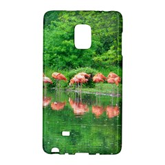 Flamingo Birds At Lake Samsung Galaxy Note Edge Hardshell Case