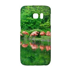 Flamingo Birds At Lake Samsung Galaxy S6 Edge Hardshell Case by yoursparklingshop