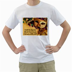 Mardi Gras T Shirt By Gregg Deneweth   Men s T Shirt (white) (two Sided)   Qcukpsjrhxtf   Www Artscow Com Front