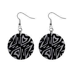 Geometric Tribal Print Mini Button Earrings by dflcprintsclothing