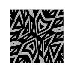 Geometric Tribal Print Small Satin Scarf (Square) by dflcprintsclothing