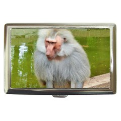 Grey Monkey Macaque Cigarette Money Case by yoursparklingshop