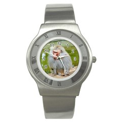 Grey Monkey Macaque Stainless Steel Watch (slim)
