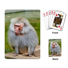 Grey Monkey Macaque Playing Cards Single Design