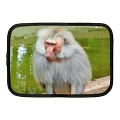 Grey Monkey Macaque Netbook Sleeve (medium)