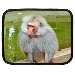 Grey Monkey Macaque Netbook Sleeve (large)