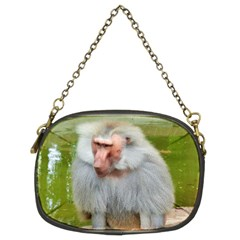 Grey Monkey Macaque Chain Purse (two Sided)
