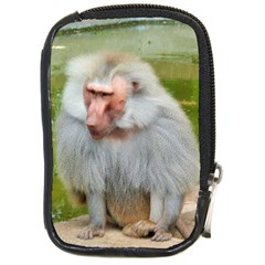 Grey Monkey Macaque Compact Camera Leather Case