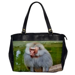 Grey Monkey Macaque Oversize Office Handbag (one Side) by yoursparklingshop