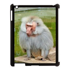 Grey Monkey Macaque Apple Ipad 3/4 Case (black) by yoursparklingshop