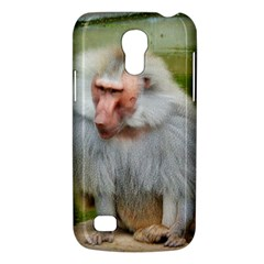 Grey Monkey Macaque Samsung Galaxy S4 Mini (gt I9190) Hardshell Case  by yoursparklingshop