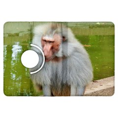 Grey Monkey Macaque Kindle Fire HDX Flip 360 Case by yoursparklingshop
