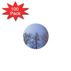 Large Trees In Sky 1  Mini Button (100 Pack)