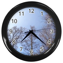 Large Trees In Sky Wall Clock (black)