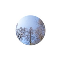 Large Trees In Sky Golf Ball Marker