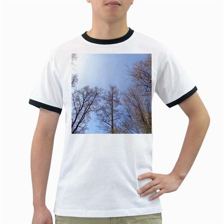 Large Trees in Sky Men s Ringer T-shirt
