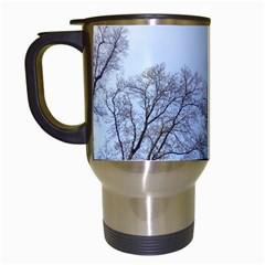 Large Trees In Sky Travel Mug (white)