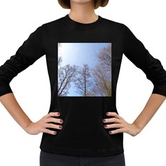 Large Trees In Sky Women s Long Sleeve T Shirt (dark Colored)
