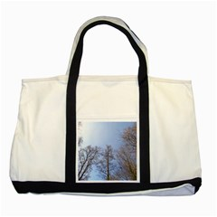 Large Trees In Sky Two Toned Tote Bag