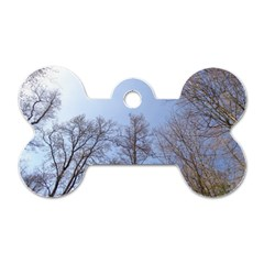 Large Trees In Sky Dog Tag Bone (two Sided)