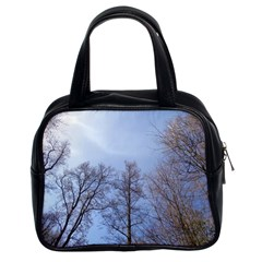 Large Trees In Sky Classic Handbag (two Sides)