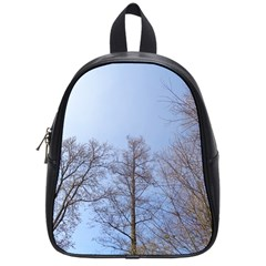 Large Trees In Sky School Bag (small)