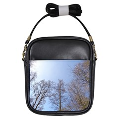 Large Trees In Sky Girl s Sling Bag