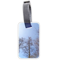 Large Trees In Sky Luggage Tag (two Sides)
