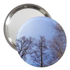 Large Trees In Sky 3  Handbag Mirror