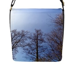 Large Trees In Sky Flap Closure Messenger Bag (large)