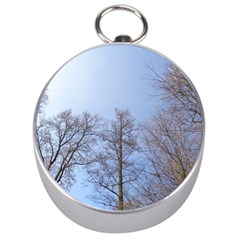 Large Trees In Sky Silver Compass