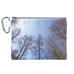 Large Trees In Sky Canvas Cosmetic Bag (xl) by yoursparklingshop