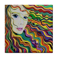 Inspirational Girl Ceramic Tile by sjart