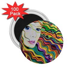 Inspirational Girl 2 25  Button Magnet (100 Pack) by sjart