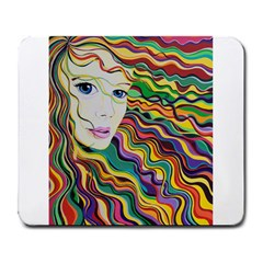 Inspirational Girl Large Mouse Pad (rectangle)