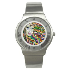 Inspirational Girl Stainless Steel Watch (slim) by sjart