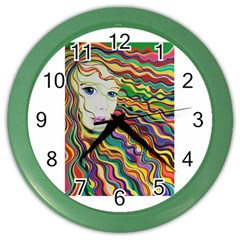 Inspirational Girl Wall Clock (color) by sjart