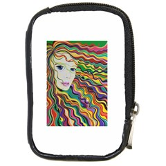 Inspirational Girl Compact Camera Leather Case by sjart