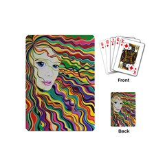 Inspirational Girl Playing Cards (Mini) by sjart